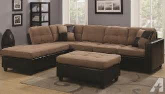 l shape fabric sectional with free ottoman for sale in las