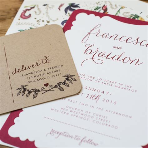 Marsala Wedding Invitations marsala wedding invitations chic shab