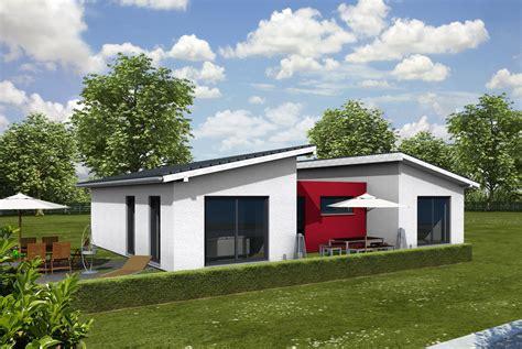 pultdachhaus eingeschossig bungalow pultdach iqhausbau