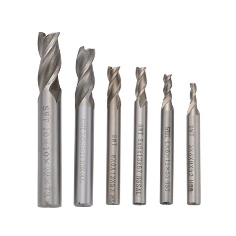 Murah Proxxon Milling Bits 5 Pcs milling cutter 3 flutes end mill drill bit hss diameter 3 4 5 6 8 10mm machine accessories cnc