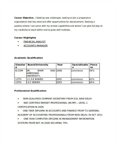 resume format for bcom freshers ppt 21 fresher resume templates pdf doc free premium