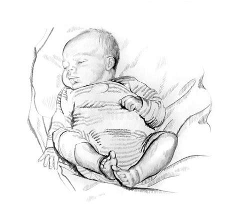 clipart matita disegno a matita bambino addormentato illustrazione di