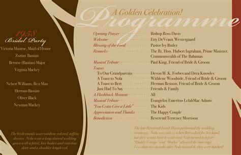 50 Wedding Anniversary Reception Ideas by 50th Wedding Anniversary Reception Program 50th
