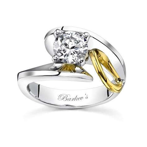 two tone engagement rings barkev s two tone engagement ring 7609l