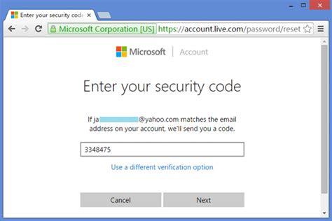 2 options to reset windows 10 microsoft account password