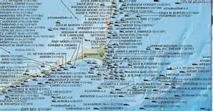 outer banks shipwrecks national geographic wall map