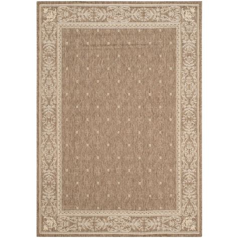 home depot indoor outdoor rug safavieh courtyard brown 4 ft x 5 ft 7 in indoor outdoor area rug cy2326 3009 4 the