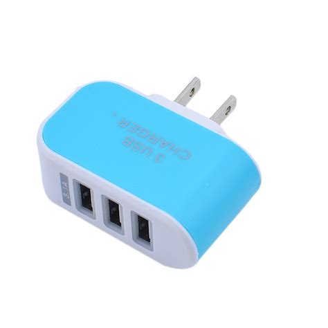 Promo Usb Power Adavter Iphone 1a Original 3 port usb wall home travel ac led power charger adapter 3 1a for iphone eu us5v ebay