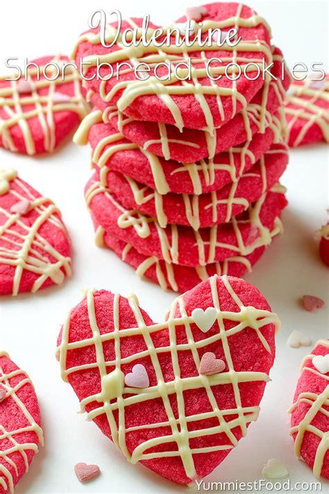 valentines shortbread shortbread cookies recipe from yummiest food