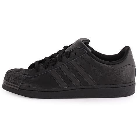 adidas superstar 2 womens leather black black trainers new