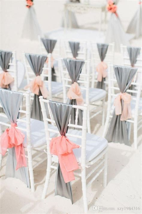 creative diy wedding chair ideas  satin sash