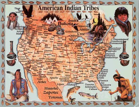 america map american tribes american nations indigenous on