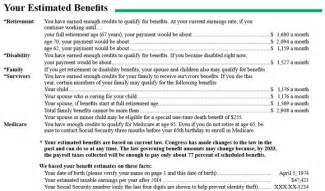 Award Letter Of Benefits Statement Ssa To Stop Mailing Social Security Estimated Benefit Statements