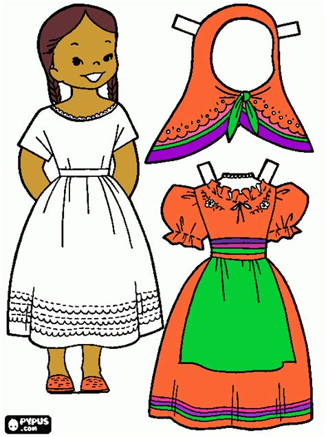 mexican girl coloring page free coloring book pages from our users