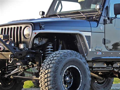 jeep tj fender genright fenders with built in flares for jeep