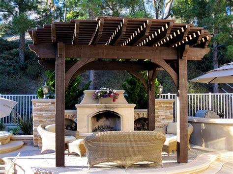 install a diy timber frame pergola a fireplace or
