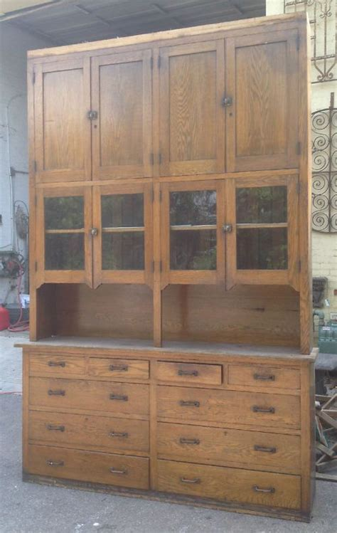 reclaimed wood butler pantry cabinets antique large oak