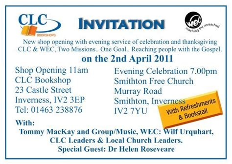 new shop opening invitation christians together clc new shop opening and evening
