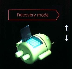 android recovery mode no command how to start android phone or tablet in recovery mode