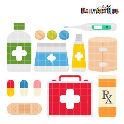 aid kit medicine contents aid kit clipart clipground