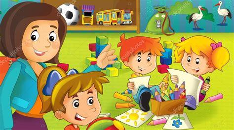 imagenes de jardines de niños animados el jard 237 n de infantes de dibujos animados diversi 243 n y