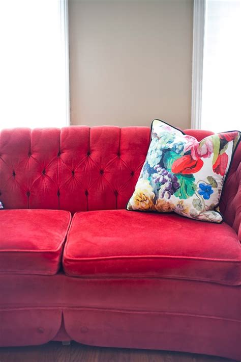 red velvet tufted sofa red velvet tufted sofa chesterfield sofa iconic furniture