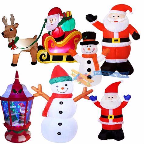 christmas worldlights transformers ebay uk large santa snowman outdoor airblown decoration figure ebay