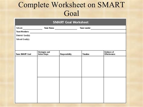 Smart Goal Setting Worksheet by Smart Goal Setting Worksheet Worksheets