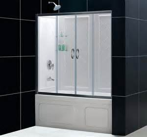 Shower Bathtub Doors Dreamline Showers Visions Sliding Tub Door