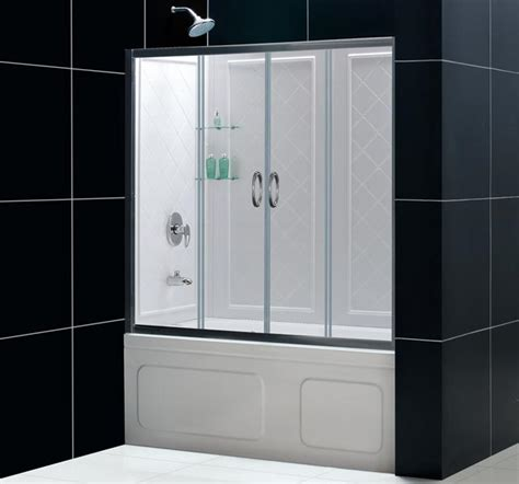 bathtub sliding shower doors dreamline showers visions sliding tub door