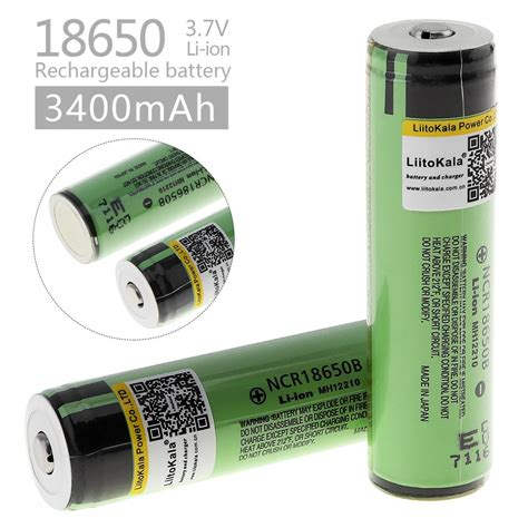 Varicore 18650 Rechargeable Li Ion Battery 3400mah 3 7v Button Top liitokala 2pcs new original 18650 ncr18650b rechargeable li ion battery 3 7v 3400mah for