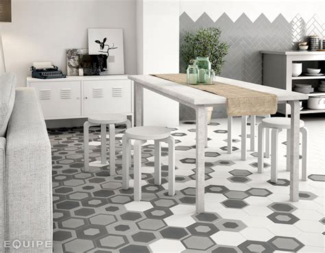 Vintage Bathroom Tile Ideas by Hexagonal Floor Tiles By Equipe Ceramica Interiorzine