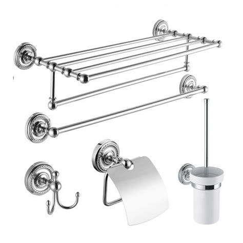 bathroom hardware sets chrome 5 piece chrome finish bathroom accessory set 002 faucets