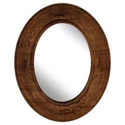 Target Mirrors oval decorative wall mirror rustic wood finish ptm