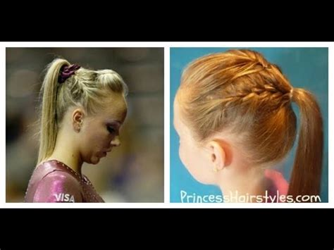 how to wear short hair for gymnastic meet gymnastics hairstyles nastia liukin inspired french