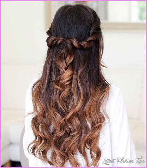 hairstyles up down long hairstyles half up half down latestfashiontips com