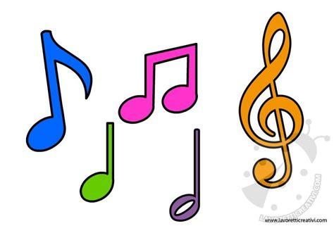 clipart note musicali sagome note musicali lavoretti creativi