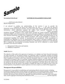 audit engagement letter sample template