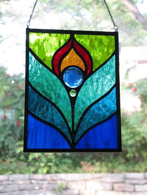 peacock stained glass l 501 best stained glass flowers images on pinterest