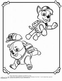 paw patrol coloring sheets nick jr coloring pages paw patrol www imgkid the
