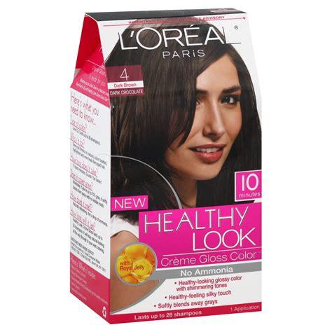 Dijamin Tancho Treatment Hair Dye L l oreal healthy look hair dye creme gloss color brown 4 1 application hair