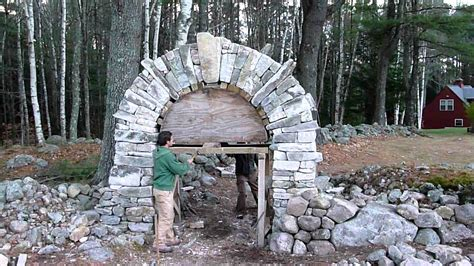 Building A Rock Fireplace by Dry Stone Archway Youtube