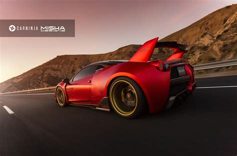 widebody ferrari misha designs ferrari 458 widebody photoshoot gtspirit