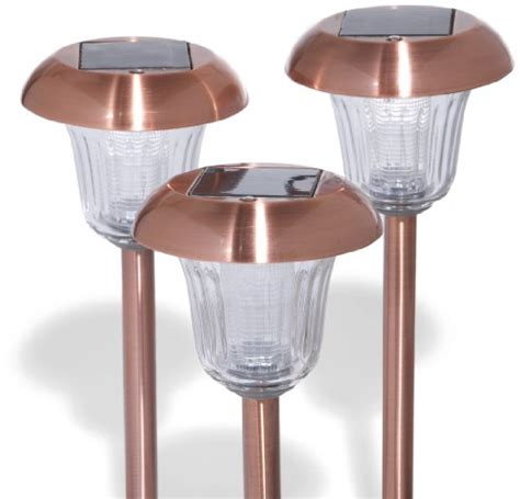 Strathwood Solar Path Lights Copper Set Of 10 Copper Solar Path Lights