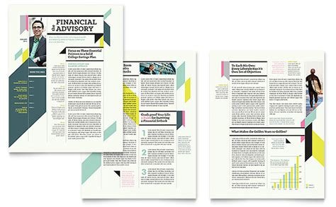 Personal Finance Newsletter Template Design News Letter Templates