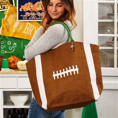 Totebag Football canvas football bags football tote bag football