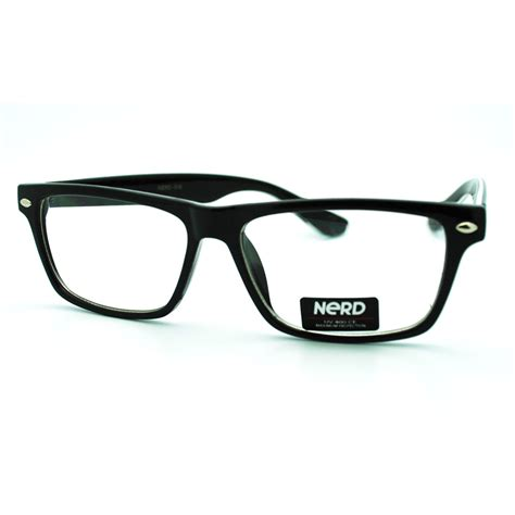 trendy narrow rectangular clear lens eye glasses with