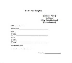 Dr Note Template by Doctor Note Template 9 Free Sle Exle