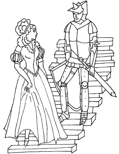 coloring pages knights and princesses knights and princesses coloring pages