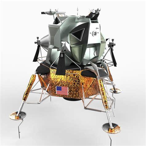 the lander picss apollo lunar module lander 3d model